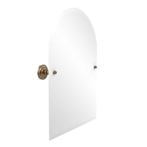 Frameless Arched Top Tilt Mirror with Beveled Edge, Brushed Bronze