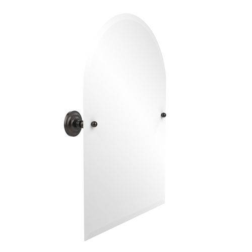 Frameless Arched Top Tilt Mirror with Beveled Edge, Oil Rubbed Bronze