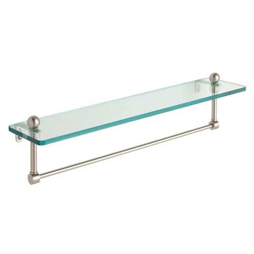 Prestige Regal Satin Nickel Single Shelf with Towel Bar