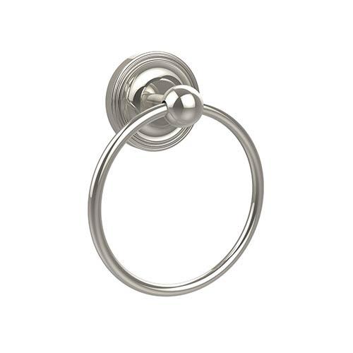 Allied Brass Prestige Regal Polished Nickel Towel Ring