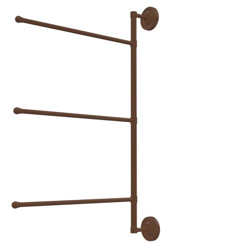 Prestige Regal Collection 3 Swing Arm Vertical 28 Inch Towel Bar, Antique Bronze