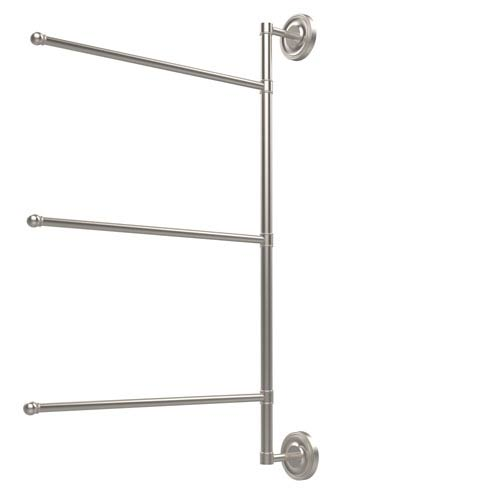 Prestige Regal Collection 3 Swing Arm Vertical 28 Inch Towel Bar, Satin Nickel
