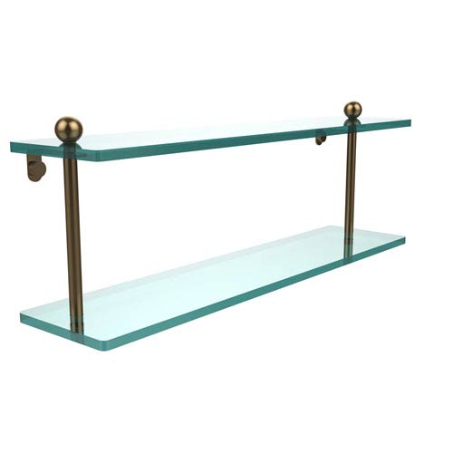 Brushed Bronze 22 Inch Double Shelf