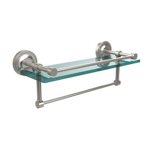 Allied Br 16 Inch Gallery Gl Shelf With Towel Bar Satin Nickel