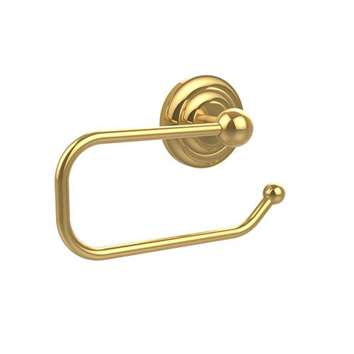 Allied Brass Que New Polished Brass Euro-Style Toilet Paper Holder