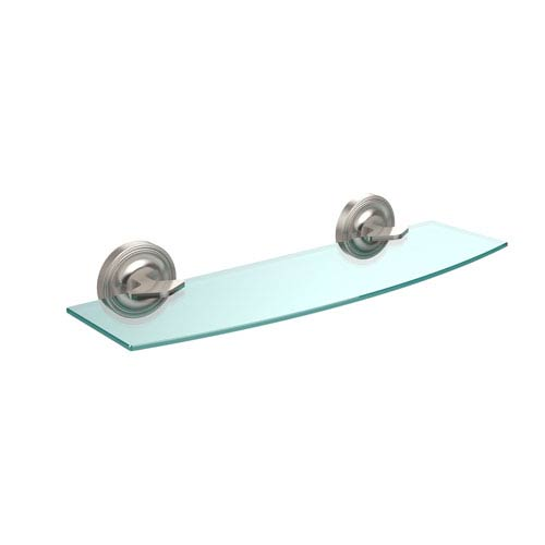 Allied Brass Regal Collection 18 Inch Glass Shelf, Satin Nickel R 33 ...