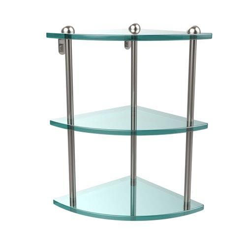 Three Tier Corner Glass Shelf