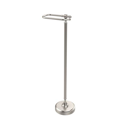 Retro Dot Collection Free Standing Toilet Tissue Holder, Satin Nickel