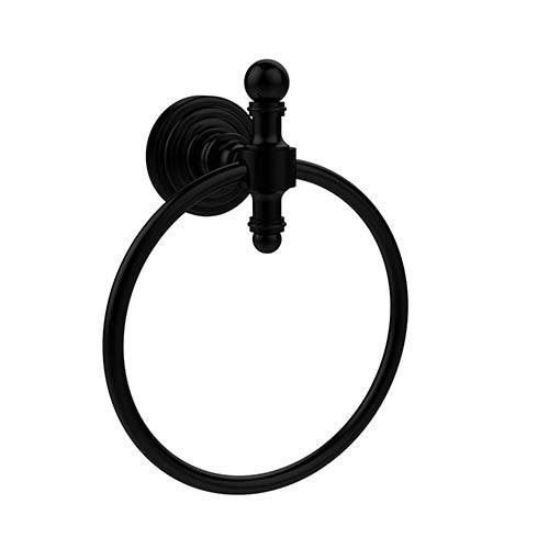 Retro Wave Matte Black Towel Ring