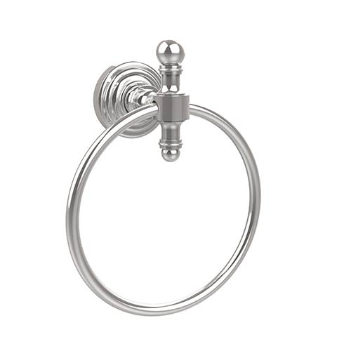 Retro-Wave Polished Chrome Towel Ring