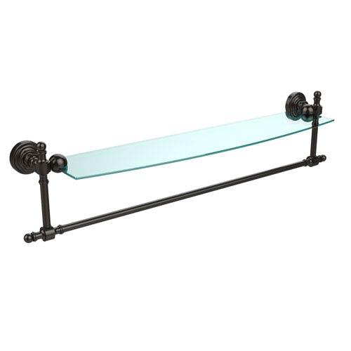 Retro-Wave 24-Inch Glass Shelf with Towel Bar