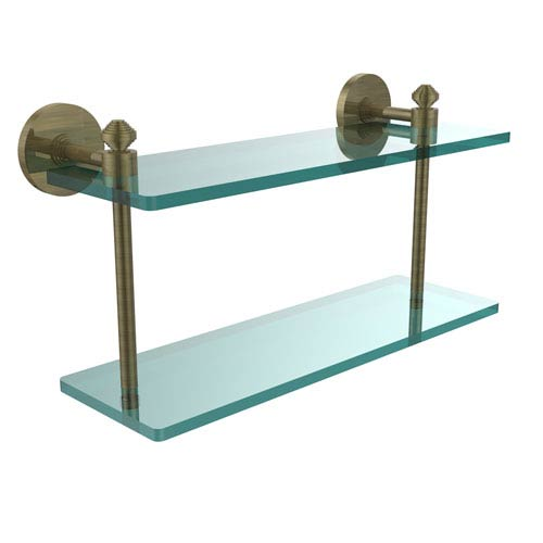 Southbeach Collection 16-Inch Two Tiered Glass Shelf
