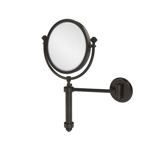 Southbeach Collection Wall Mounted Make-Up Mirror 8 Inch Diameter with 3X Magnification, Oil Rubbed Bronze