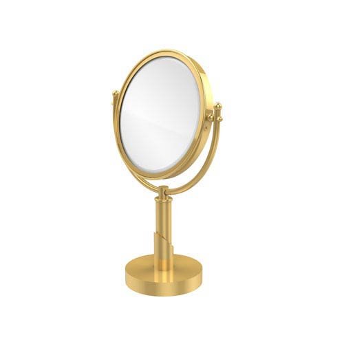 Soho Collection 8 Inch Vanity Top Make-Up Mirror 4X Magnification, Polished Brass