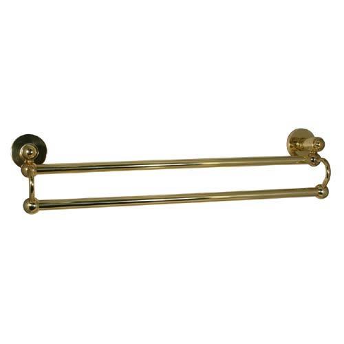 Polished Brass Soho 30-Inch Double Towel Bar