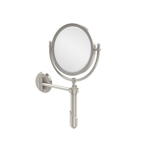 Soho Collection Wall Mounted Make-Up Mirror 8 Inch Diameter with 2X Magnification, Polished Nickel