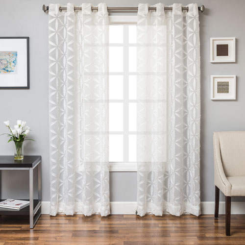 Sayer White 96 x 55 In. Monica Pedersen Sonoma Jacquard  Panel