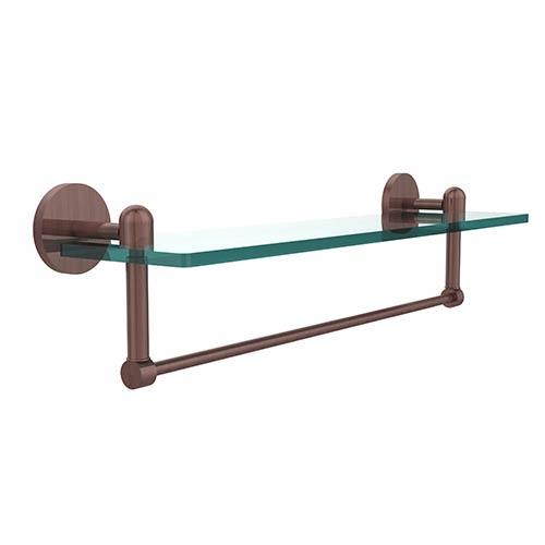 Tango Antique Copper Single Shelf with Towel Bar