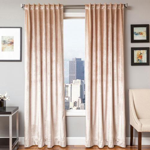 Softline Home Fashions Tatum Flax 84 x 55 In. Luxurious Velvet Panel