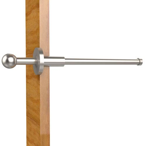 Traditional Retractable Pullout Garment Rod, Satin Nickel