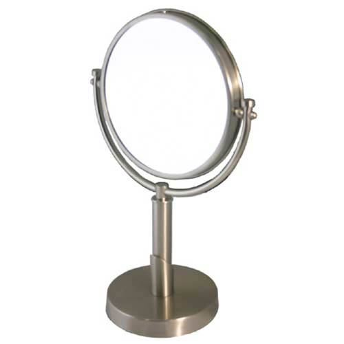 Tribecca Satin Nickel 5X Magnifying Table Mirror
