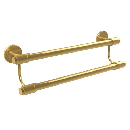 Tribecca Collection 36 Inch Double Towel Bar, Unlacquered Brass