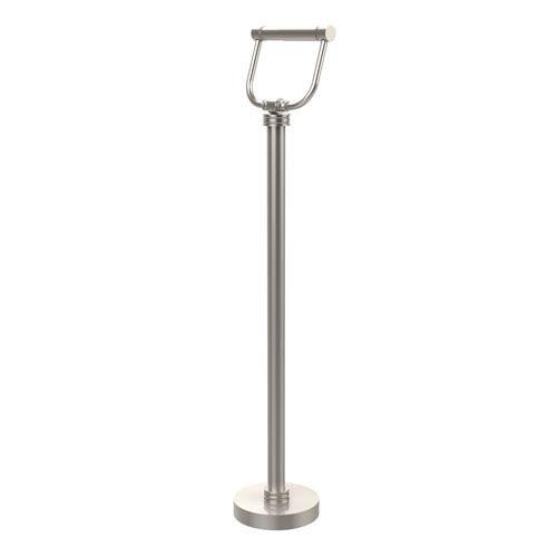 Allied Brass Free Standing Toilet Tissue Holder, Satin Nickel