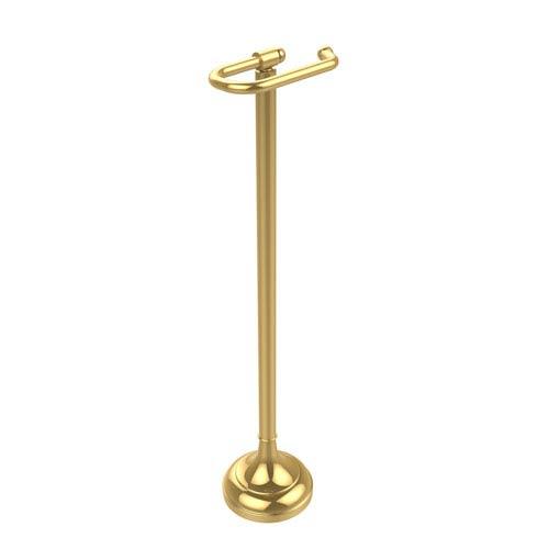 Allied Brass Free Standing European Style Toilet Tissue Holder, Polished Brass