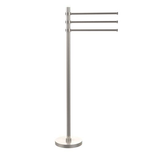 Allied Brass Towel Stand with 3 Pivoting 12 Inch Arms, Satin Nickel
