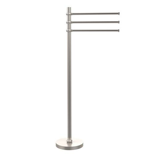 Towel Stand with 3 Pivoting 12 Inch Arms, Satin Nickel