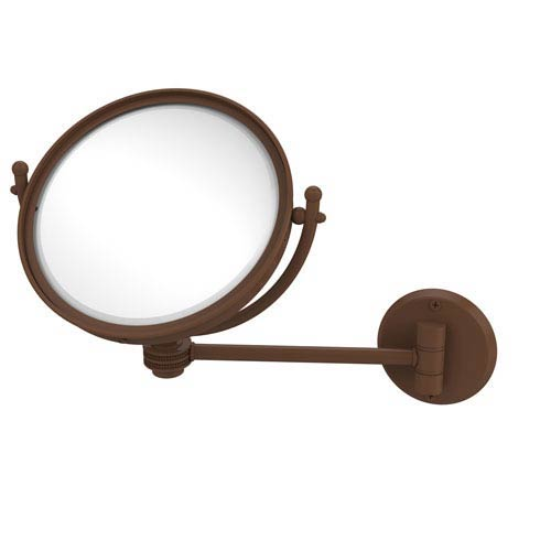 8 Inch Wall Mounted Make-Up Mirror 5X Magnification, Antique Bronze