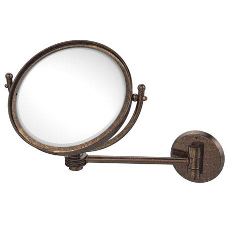 8 Inch Wall Mounted Make-Up Mirror 5X Magnification, Venetian Bronze