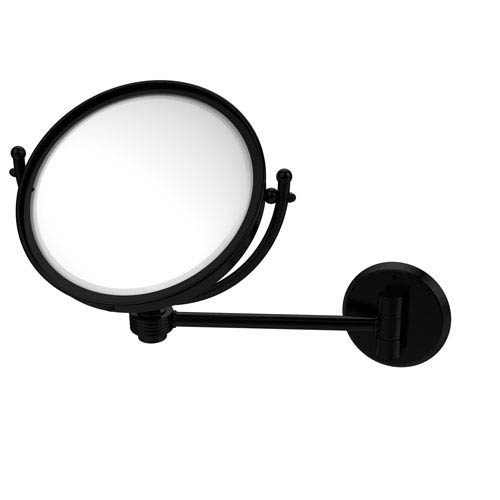 8 Inch Wall Mounted Make-Up Mirror 4X Magnification, Matte Black