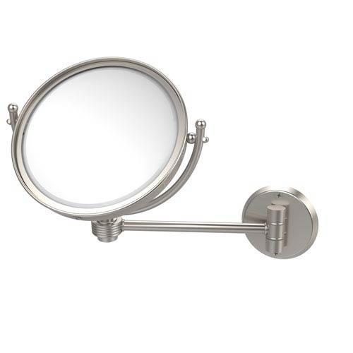 8 Inch Wall Mounted Make-Up Mirror 5X Magnification, Satin Nickel