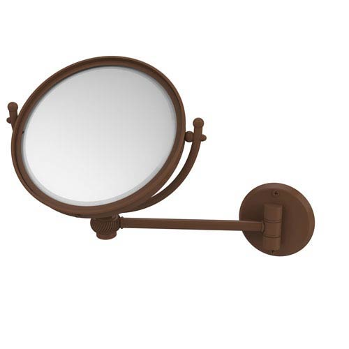 8 Inch Wall Mounted Make-Up Mirror 3X Magnification, Antique Bronze