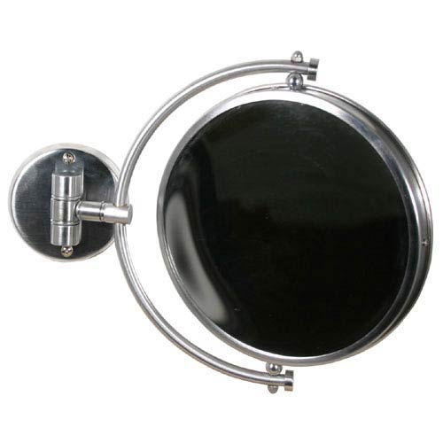 Satin Chrome 8 Inch Mirror 4x Magnification Extends 7 Inch
