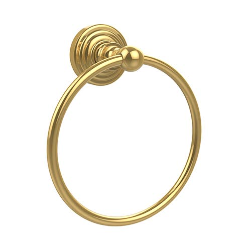 Waverly Place Polished Brass Towel Ring