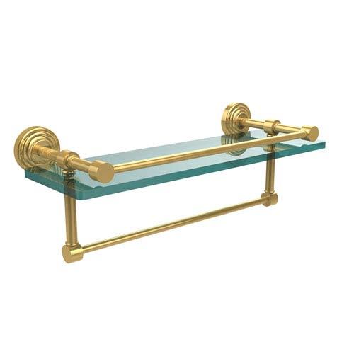 16-Inch Gallery Glass Shelf with Towel Bar