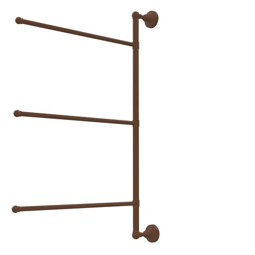 Waverly Place Collection 3 Swing Arm Vertical 28 Inch Towel Bar, Antique Bronze