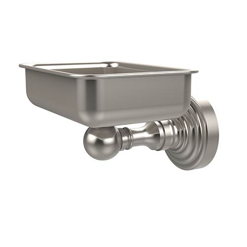 Satin Nickel Waverly Place Soap Dish with Glass Liner