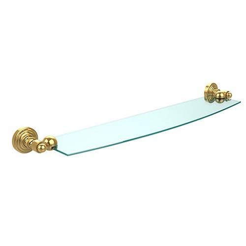 Waverly Place Polished Brass 24-Inch Single Shelf