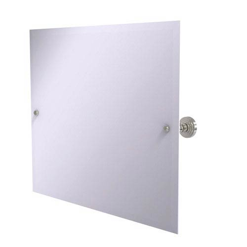 Allied Brass Frameless Landscape Rectangular Tilt Mirror with Beveled Edge, Satin Nickel