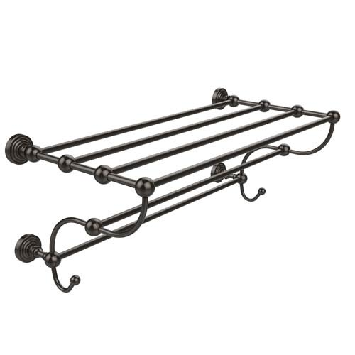 Waverly Place Collection 36 Inch Train Rack Towel Shelf, Oil Rubbed Bronze