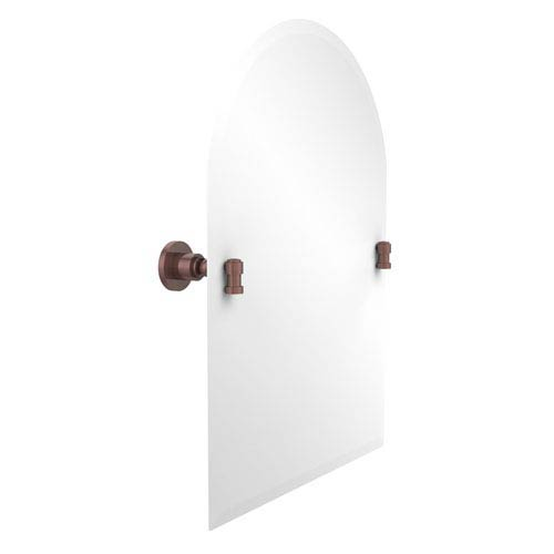 Allied Brass Frameless Arched Top Tilt Mirror with Beveled Edge, Antique Copper