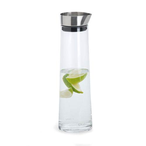 Acqua Glass and Stainless Steel Water Carafe - Medium