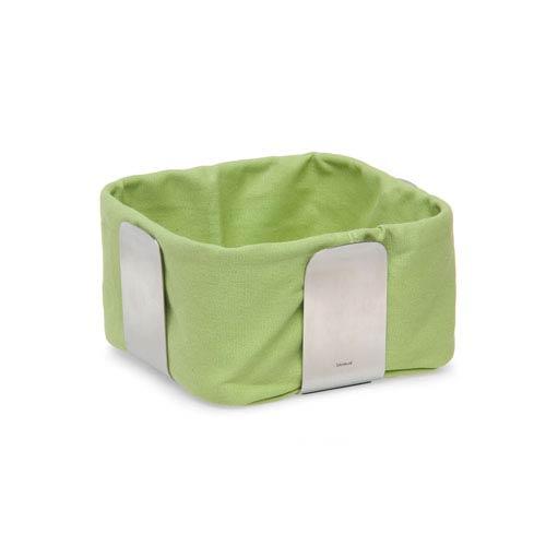 Blomus Desa Green and Stainless Steel Bread Basket
