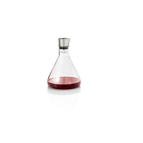 Delta Glass and Stainless Steel Wine Decanting Carafe