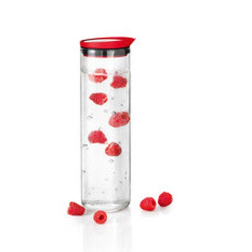 Fontana Red and Stainless Steel Water Carafe