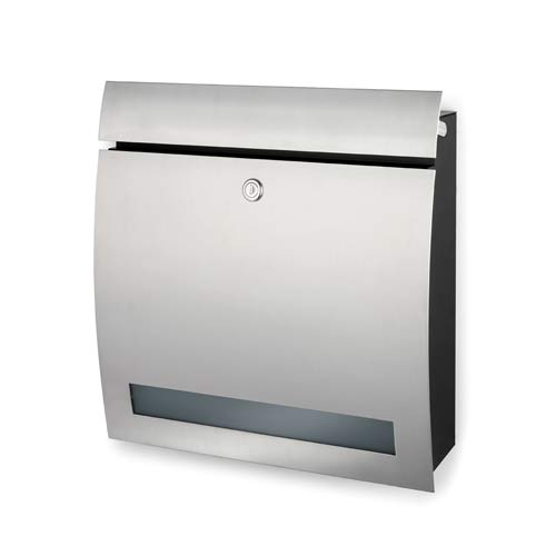 Brushed Stainless Steel Letter Box With Window