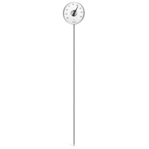 Grado Brushed Stainless Steel Thermometer w/ Stake